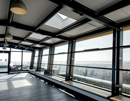 Reference project: Closed roof terrace